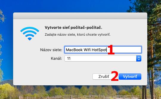 Apple MacBook - vytvorenie wifi hotspotu - 2. časť